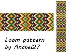 Loom bead pattern - ethnic style - beaded pattern #102