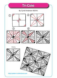 step out for Yankee Zentangle pattern by Kelley Kelly, Certified . Doodles Zentangles, Tangle Doodle, Tangle Art, Zentangle Drawings, Zen Doodle, Doodle Drawings, Doodle Art, Doodle Patterns, Zentangle Patterns