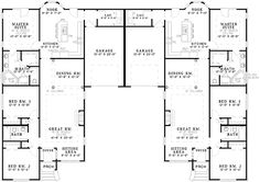 COOL house plans offers a unique variety of professionally designed home plans with floor plans by accredited home designers. Styles include country house plans, colonial, Victorian, European, and ranch. Blueprints for small to luxury home styles. Duplex Floor Plans, House Floor Plans, Garage, Family House Plans, Family Homes, Apartment Plans, Future House, Home Remodeling, Maine