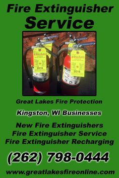 Fire Extinguisher Service Kingston, WI (262) 798-0444.. Local Wisconsin Businesses you have found the complete source for Fire Protection. Fire Extinguishers, Fire Extinguisher Service.. We're got you covered.. Great Lakes Fire Protection