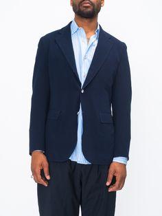SUMMER WOOL BLAZER - NAVY | GENTRY NYC Suit Jacket, Nyc, Blazer, Wool, Suits, Summer, Jackets, Products, Fashion
