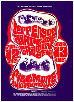 "JEFFERSON AIRPLANE 1966 Concert Poster  Filmore West • 100% Mint unused condition • Well discounted price + we combine shipping • Click on image for awesome view • Poster is 12"" x 18"" • Semi-Gloss Finish • Great Music Collectible - superb copy of original • Usually ships within 72 hours or less with tracking. • Satisfaction guaranteed or your money back.Go to: Sportsworldwest.com"