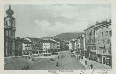 Gorizia Piazza Grande 1916  viaggiata timbro verificato per censura animata C352