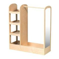 Guidecraft See and Store Dress-up Center - Natural: Armoire for Kids with Mirror & Shelves, Clothes Rack and Shoe Storage Dresser with Bottom Tray - Toddlers Room Furniture Dress Up Clothes Storage, Clothing Storage, Dress Clothes, Diy Clothes, Kids Clothing, Hanging Clothes, Clothes Racks, Little Girl Dress Up, Kids Dress Up