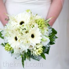 White and Green Bouquet, maybe with a touch of sunflowers.