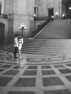 San Francisco City Hall Wedding by Arnau Dubois Photography - Full Post: http://www.brideswithoutborders.com/inspiration/intimate-city-hall-wedding-in-san-francisco-by-arnau-dubois