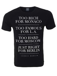 Too Rich for Monaco Round Neck Shirt