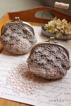 Another crocheted coin purse.