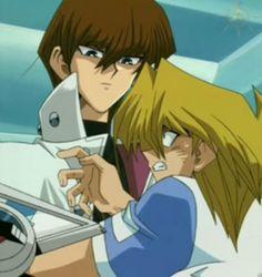 Joey Wheeler and Seto Kaiba - Screencap