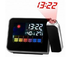 Buy Fashion style durable Projection Digital Alarm Clock Projector Weather LCD Snooze Display LED Backlight Calendar relogio Digital despertador (Size: One Size, Color: Black) at Wish - Shopping Made Fun Projection Alarm Clock, Led Alarm Clock, Projection Screen, Usb, Weather Calendar, Calendar Time, Weather Display, Led Backlight, Digital Projection