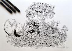 COMMISSIONED WORK: Mammoth Paradise by kerbyrosanes.deviantart.com on @deviantART