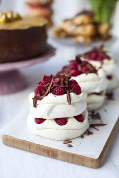 Raspberry and Dark Chocolate Mini Pavlova Stacks | DonalSkehan.com, Surprisingly…