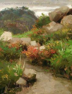 Path Colors - Oil by Daniel J. Keys, 10 x 8