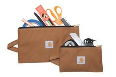 Carhartt Legacy Utility Pouch Set of 2, Carhartt Brown