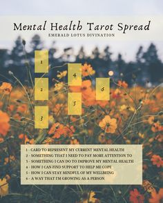 This tarot spread will help you check-in with your mental health & will give tips on how to find support, cope and highlight what you should be paying more attention to. Tarot Card Spreads, Tarot Cards, 3 Chakra, Tarot Astrology, Oracle Tarot, Tarot Learning, Tarot Card Meanings, Card Reading, Book Of Shadows