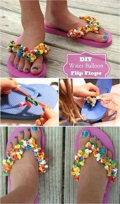 b651484e1 DIY  Water Balloon Flip Flops  diy  thriftychic  diyflipflops   diysandalsmakeover Balloon Flip