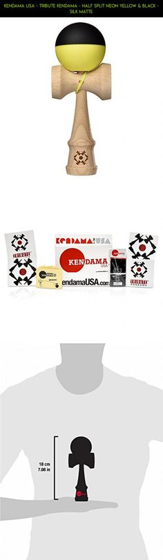 Kendama USA - Tribute Kendama - Half Split Neon Yellow & Black - Silk Matte #plans #parts #fpv #gadgets #drone #kendama #products #neon #shopping #kit #tech #technology #camera #racing