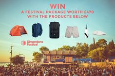 Win a Festival Package Worth with Dimensions Festival Prize Draw, Festival Camping, I Win, Giveaways, Festivals, Competition, Places To Go, Advertising, Packaging