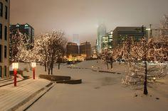 Omaha, Nebraska -- Wintertime