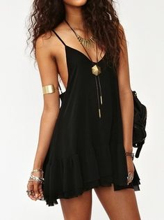 Casual black dresses.
