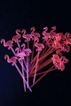 Pink Flamingo Cocktail Sticks 20 pieces Home Bar Accessories, Hair Accessories, Rockett St George, Cocktail Sticks, Kitchen Art, Pink Flamingos, Dandelion, Balloons, Cocktails