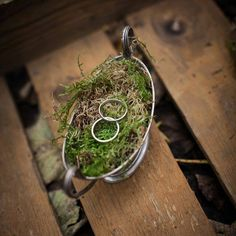 rustic wedding ring holder.
