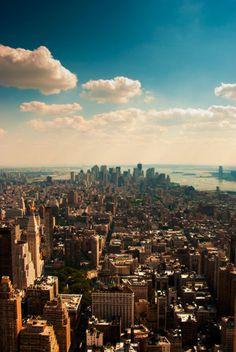 bird's eye view of NYC