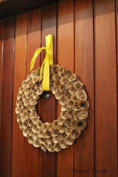 Cheiro de Vanilla: Guirlanda de flores de filtro de café