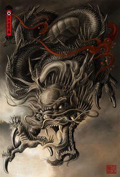 Dragon Artwork by Hailin Fu www.facebook.com/... Instagram:@Hailin Tatto