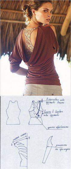 Блузка-качель с кружевной ставкой (выкройка) / Простые выкройки / ВТОРАЯ УЛИЦА...<3 Deniz <3