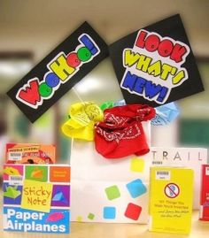 Themes for creating book displays and library bulletin boards