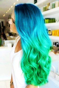 Awesome colored ombre