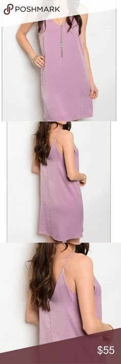 Gorgeous lavender slip dress This gorgeous slip dress is the perfect staple to any wardrobe. It's able to be dressed up or dressed down based on the occasion. 100% polyester and has additional fabric around the bust for better coverage. Beautiful color, extremely soft fabric, what more could we ask for? ✨ offers welcome! Dresses Mini