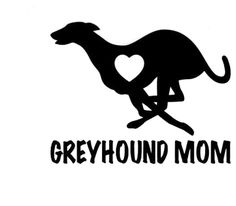 dd8fdd95ee8 9CM Greyhound Mom Love Heart - Dog Puppy Vinyl Decal Motorcycle Car Sticker  Black/Sliver