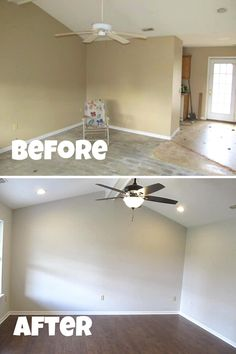 Check out all the before and after photos from this flip by clicking the link. Trash Removal, Interior Paint, Flipping, Ceiling Fan, Ranch, Backyard, Living Room, Link, Check