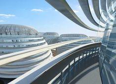 Galaxy SOHO complex at Chaoyangmen, designed by Zaha Hadid.