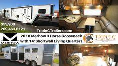 2018 Merhow 3 Horse Gooseneck w 14′ Shortwall Living Quarters from Triple C Trailers (@TripleCTrailers)   Twitter