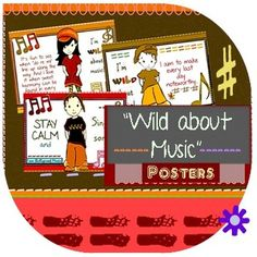 #music_posters for #classroom_music teaching music appreciation! Featuring Bullyproof Music kids. Adorable & Noteworthy :-) $