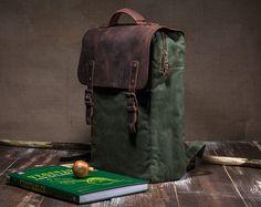 Mochila de lona encerada encerado mochila mochila de viaje