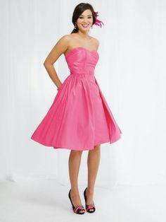 Taffeta Sweetheart Belted Bodice A-line Bridesmaids Dress