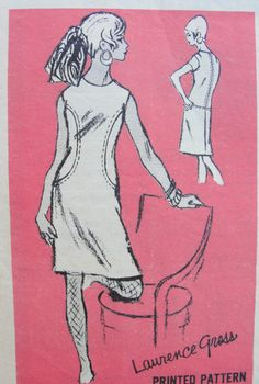 MOD 60s SHIFT DRESS PATTERN PROMINENT DESIGNER PATTERNS 578