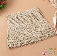 Ruffle Skirt free crochet graph pattern