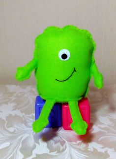 Mini Monster Monster Toy Green Childrens Toy by DaisyFelts on Etsy