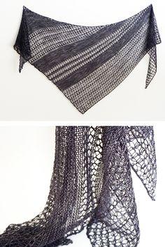 Ravelry: Wildheart shawl with fingering weight Handu yarn - knitting pattern by Janina Kallio.