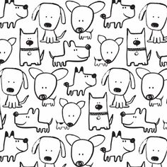 PuppyLove big dogs by RosesareRed Doodle Drawings, Easy Drawings, Doodle Art, Drawing For Kids, Art For Kids, Dog Drawing Simple, Animal Doodles, Sketch Notes, Cute Doodles