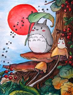 totoro In the forest, studio ghibli Film Anime, Manga Anime, Anime Art, Studio Ghibli Art, Studio Ghibli Movies, Hayao Miyazaki, Plastic Memories, Art Japonais, Anime Kunst