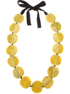 MARIA CALDERARA Beaded Resin Necklace