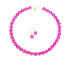 Hot Pink Bridal Necklace Hot Pink by WildflowersAndGrace on Etsy