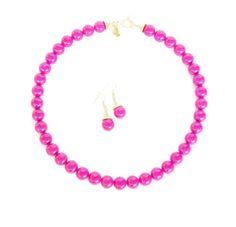 Hot Pink Bridal Necklace Hot Pink by WildflowersAndGrace on Etsy