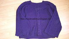 Handmade tricotaje: Pulover tricotat mov